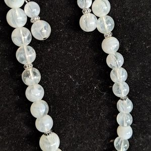 Long Beaded Necklace & Earring Set